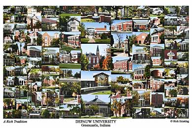 Depauw University Campus Art Prints Photos Posters