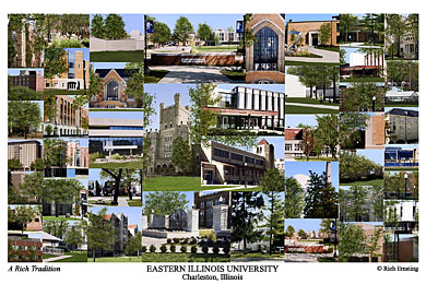 Eastern Illinois University Campus Art Prints Photos Posters