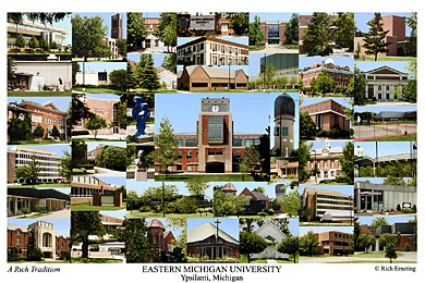 Eastern Michigan University Campus Art Prints Photos Posters
