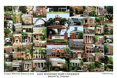 East Tennessee State University Campus Art Prints Photos