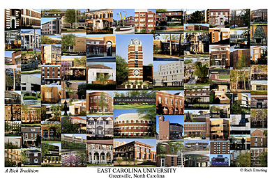 East Carolina University Campus Art Prints Photos Posters