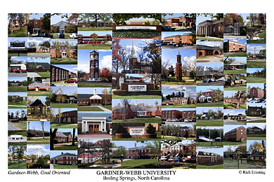 Gardner Webb University Campus Art Prints Photos Posters