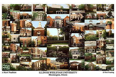 Illinois Wesleyan University Campus Art Prints Photos