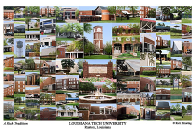 Louisiana Tech University Campus Art Prints Photos Posters