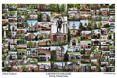 Lafayette College Campus Art Prints Photos Posters