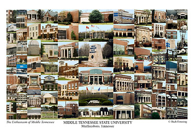 Middle Tennessee State University Campus Art Prints