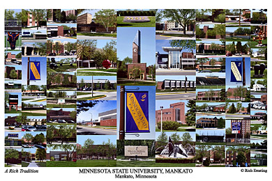 Minnesota State University Mankato Campus Art Prints