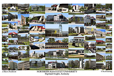 Northern Kentucky University Campus Art Print