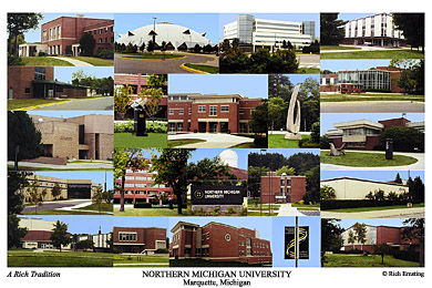 Northern Michigan University Campus Art Prints Photos