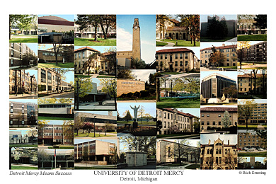University Of Detroit Mercy Campus Art Prints Photos Posters
