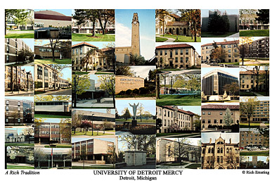 University Of Detroit Mercy Campus Art Prints Photos Posters