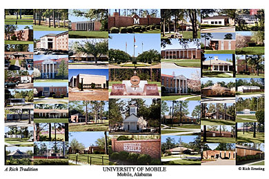 University Of Mobile Campus Art Prints Photos Posters