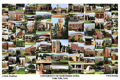 University of Northern Iowa Campus Art Prints, Photos, Posters