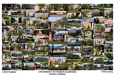 University Of North Alabama Campus Art Prints Photos Posters