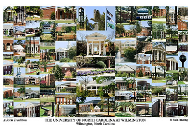 University Of North Carolina Wilmington Campus Art Prints