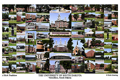 University Of South Dakota Campus Art Prints Photos Posters