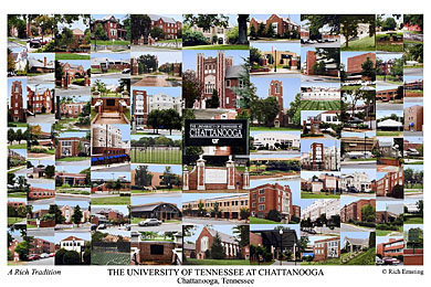 University Of Tennessee At Chattanooga Campus Art Prints