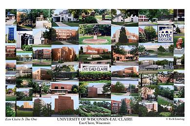 University Of Wisconsin Eau Claire Campus Art Prints