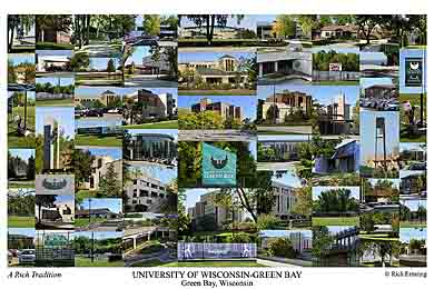 University Of Wisconsin Green Bay Campus Art Prints