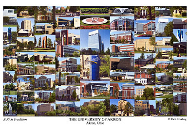University Of Akron Campus Art Prints Photos Posters