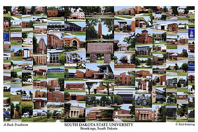 South Dakota State University Campus Art Prints Photos