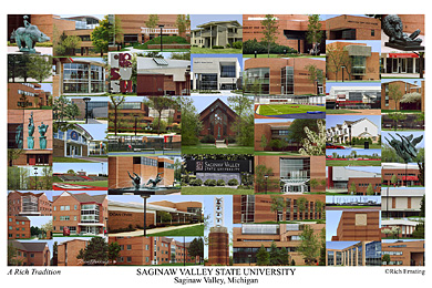 Saginaw Valley State University Campus Art Prints Photos