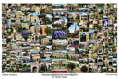 Texas Christian University Campus Art Prints Photos Posters