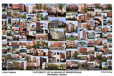 University Of Alabama At Birmingham Campus Art Prints