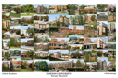 Towson University Campus Art Prints Photos Posters