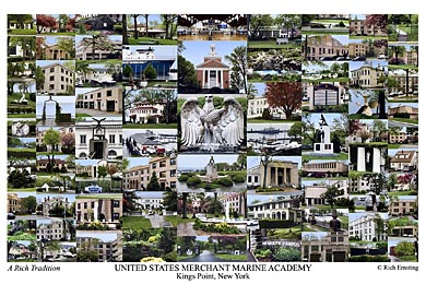 United States Merchant Marine Academy Campus Art Prints