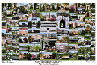 W Chester Artist West Chester University Campus Art Prints, Photos, Posters