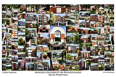 Indiana University Of Pennsylvania Campus Art Prints