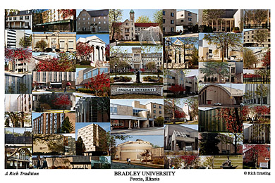 Bradley University Campus Art Prints Photos Posters