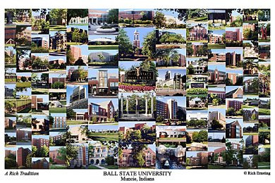 Ball State University Campus Art Prints Photos Posters
