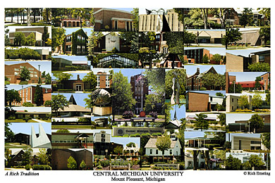 Central Michigan University Campus Art Prints Photos Posters