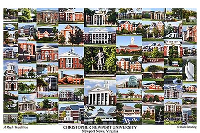 Christopher Newport University Campus Art Prints Photos
