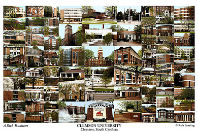 Clemson University Campus Art Prints Photos Posters