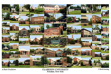 Clarkson University Campus Art Prints Photos Posters