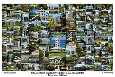 Cal State Sacramento Campus Art Prints Photos Posters