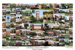Louisiana Tech University Campus Art Print